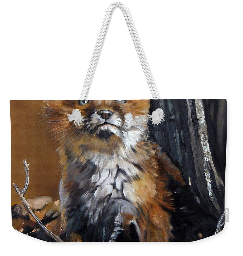 Southwest Art Weekender Tote Bag featuring the painting Dreamer by J W Baker