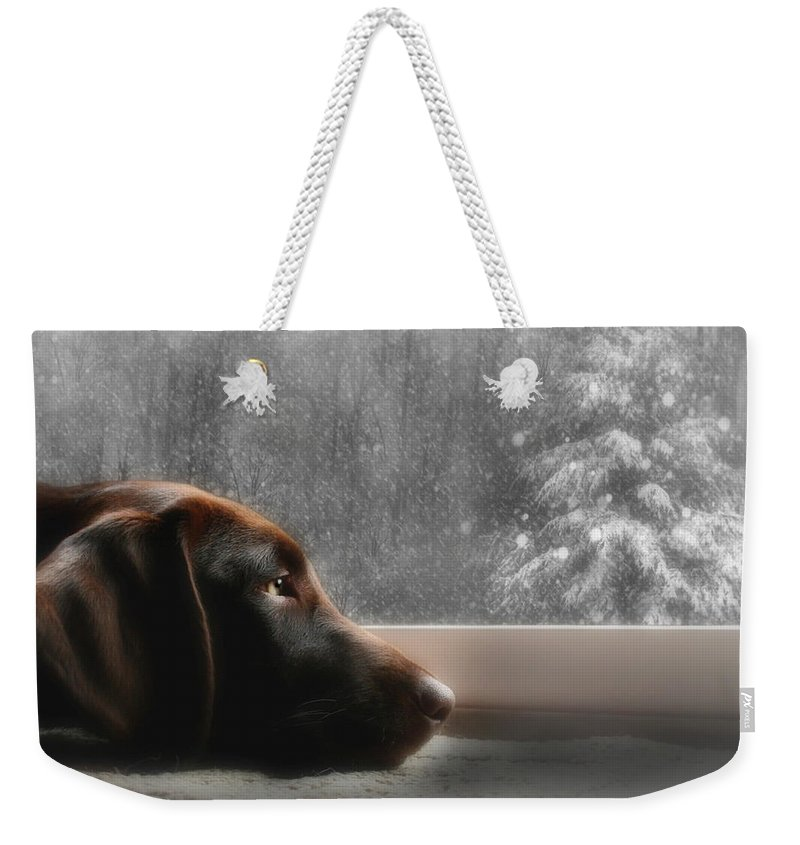Christmas Weekender Tote Bag featuring the photograph Dreamin' Of A White Christmas by Lori Deiter
