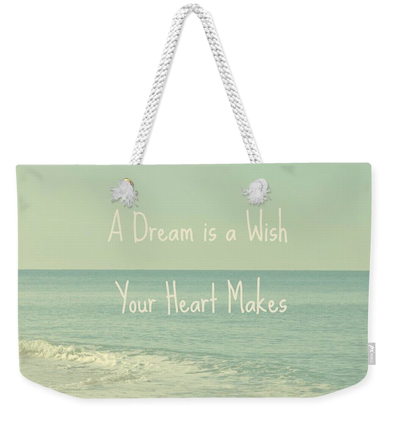 Seascape Weekender Tote Bag featuring the photograph Dreams And Wishes by Kim Hojnacki