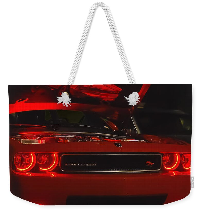 Challenger Weekender Tote Bag featuring the photograph Dreams Of Red Seduction by DigiArt Diaries by Vicky B Fuller