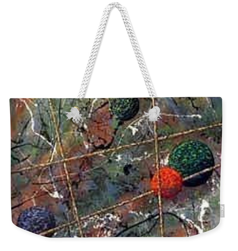 Abstract Weekender Tote Bag featuring the painting Dreamscape by Micah Guenther