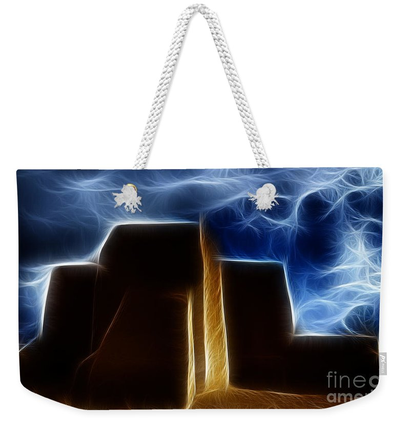 Abstract Weekender Tote Bag featuring the photograph Dreamtime Adobe by Vivian Christopher
