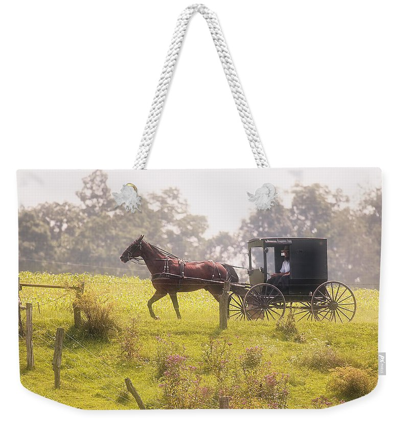 Transportation Weekender Tote Bag featuring the photograph Dreamy Morning by Marcia Colelli