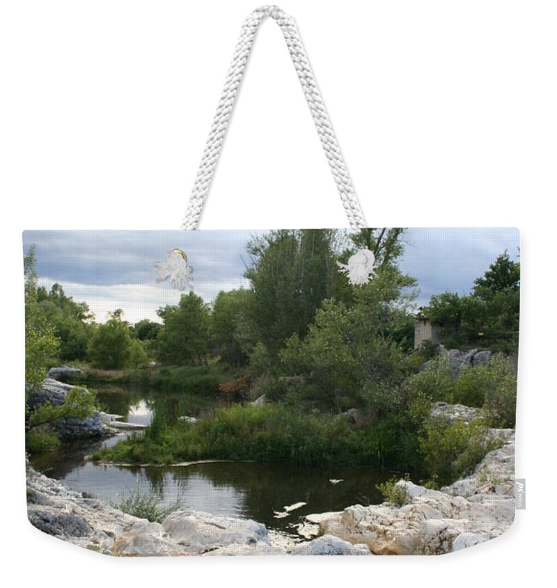 Stones Weekender Tote Bag featuring the photograph Dreamy River by Christiane Schulze Art And Photography