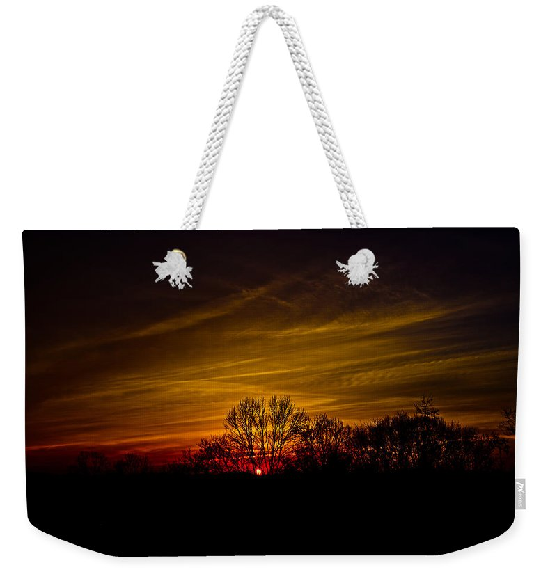 Sunset Weekender Tote Bag featuring the photograph Dreamy Sunset by Shirley Tinkham