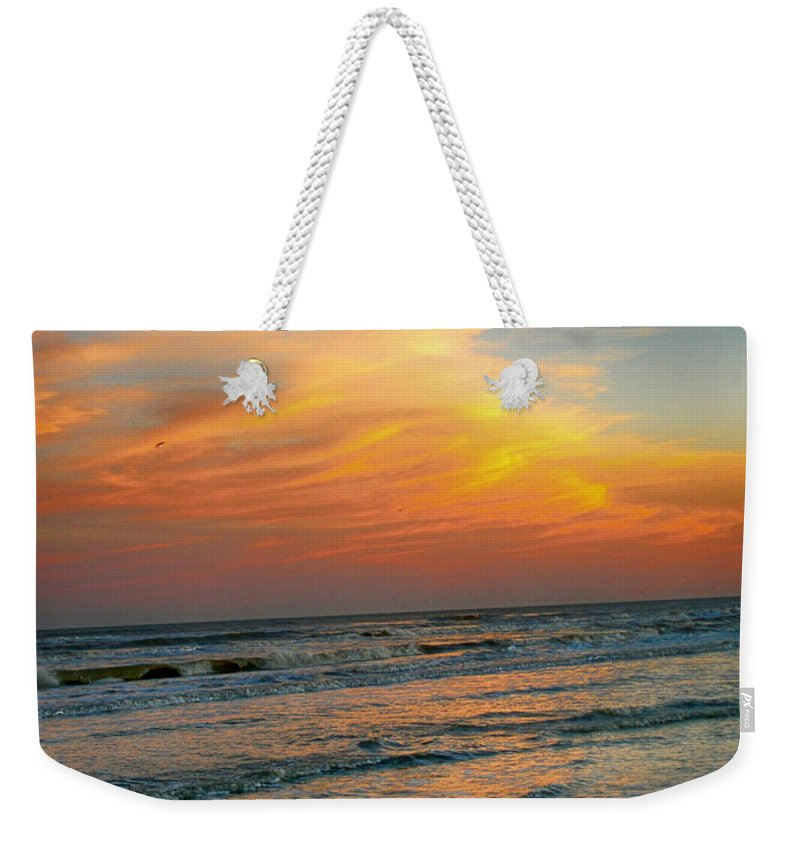 Sunset Weekender Tote Bag featuring the photograph Dreamy Texas Sunset by Kristina Deane