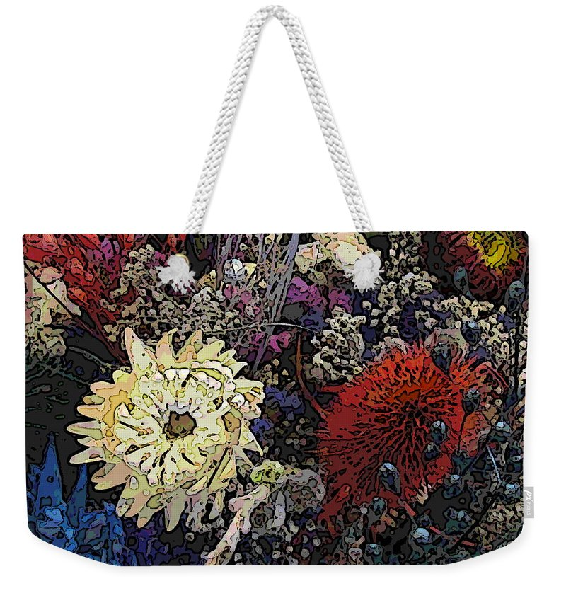 Flowers Weekender Tote Bag featuring the digital art Dried Delight 6 by Tim Allen