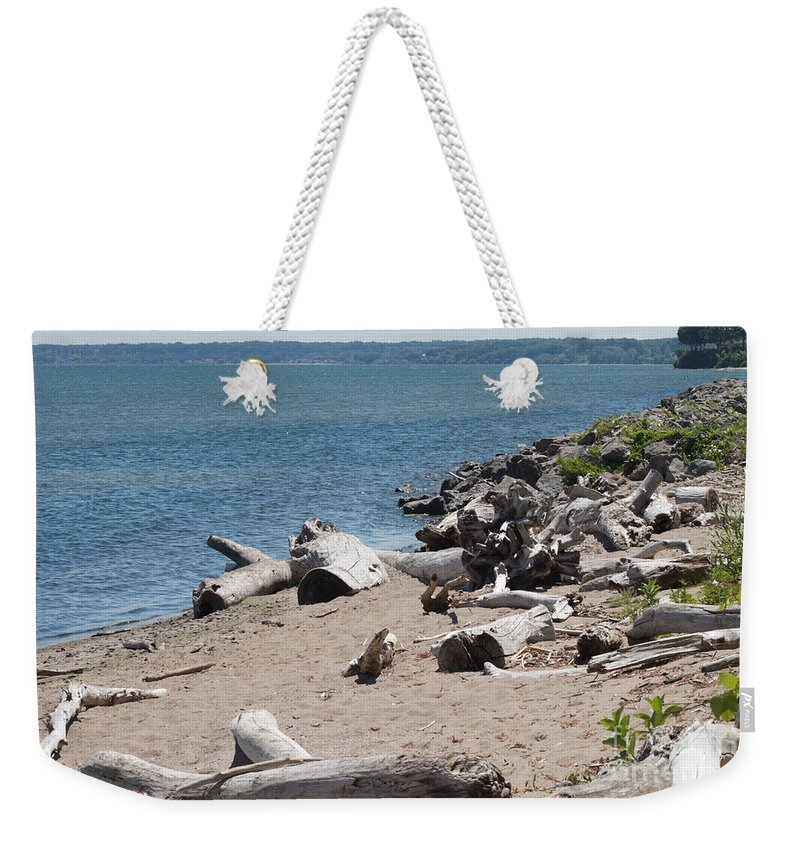 Drift Wood Weekender Tote Bag featuring the photograph Drift Wood by William Norton