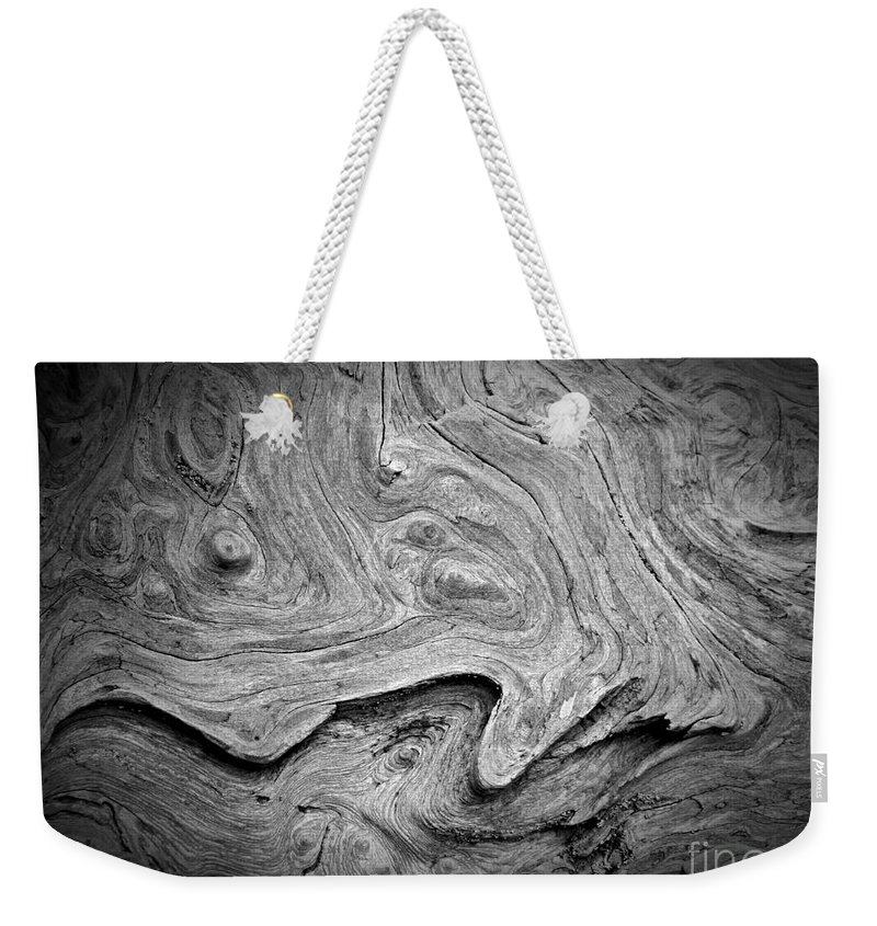 Driftwood Butte Bw 2 Weekender Tote Bag featuring the photograph Driftwood Butte Bw 2 by Chalet Roome-Rigdon