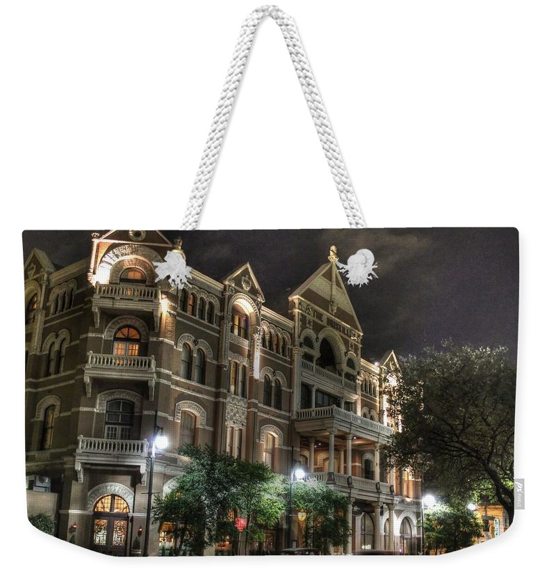 Driskill Hotel Weekender Tote Bag featuring the photograph Driskill Hotel by Jane Linders