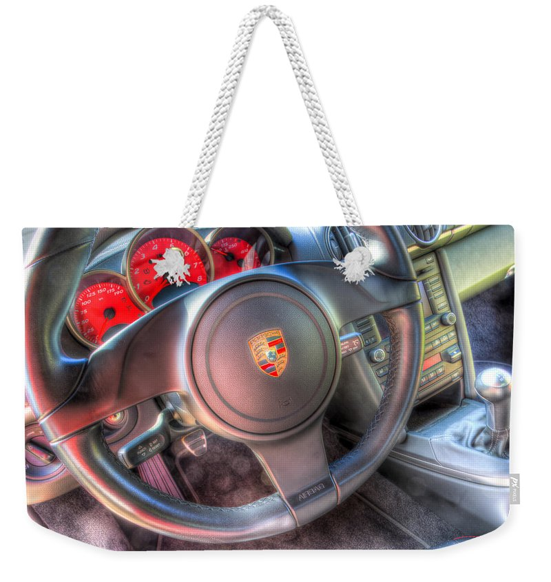 Car Weekender Tote Bag featuring the photograph Drive Me by Heidi Smith