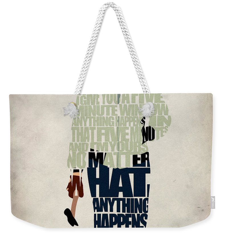 Drive Weekender Tote Bag featuring the digital art Driver - Ryan Gosling by Inspirowl Design