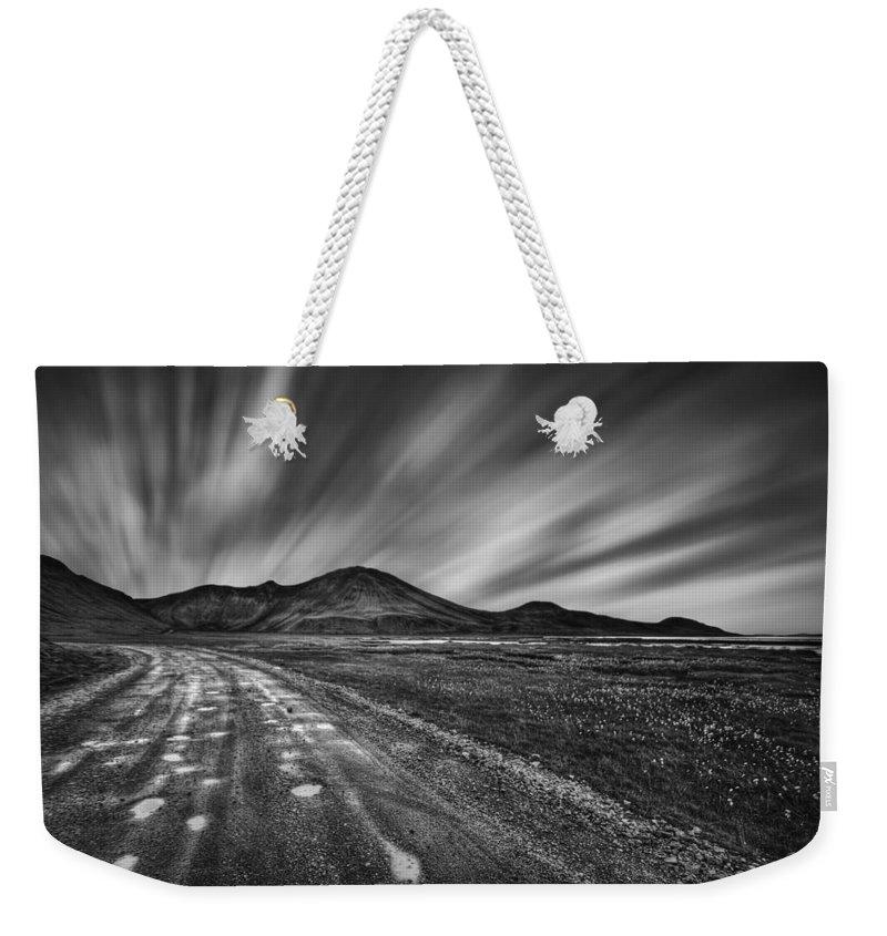 Landmannalaugar Weekender Tote Bag featuring the photograph Drives You Wild by Evelina Kremsdorf