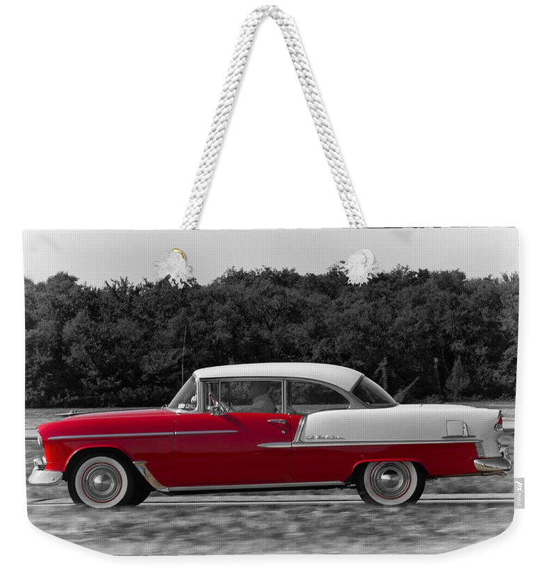 Chevy Weekender Tote Bag featuring the photograph Driving A Dream by Debby Richards