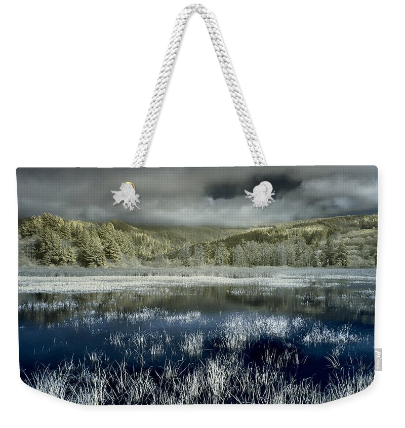 Infrared Weekender Tote Bag featuring the photograph Dry Lagoon Winter by Greg Nyquist