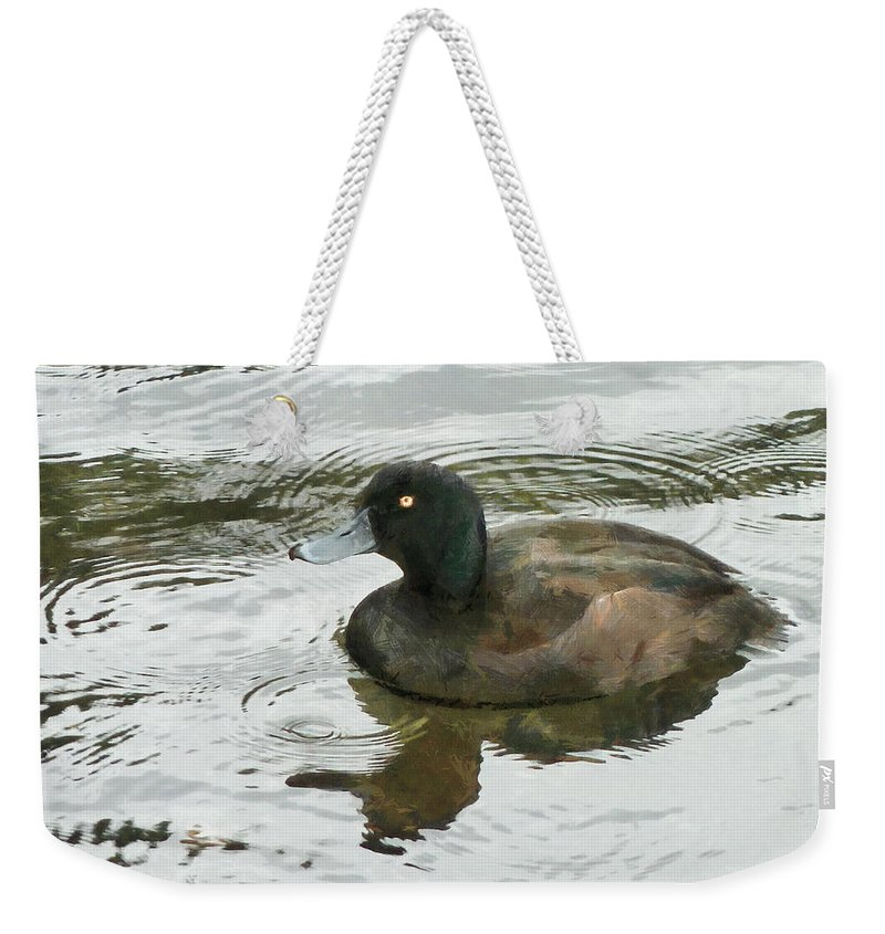 Duck Weekender Tote Bag featuring the photograph Duck Day Afternoon by Steve Taylor