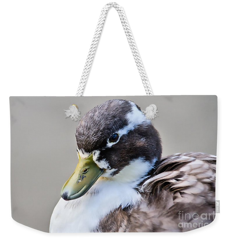 Duck Weekender Tote Bag featuring the photograph Duck Portrait by Susie Peek