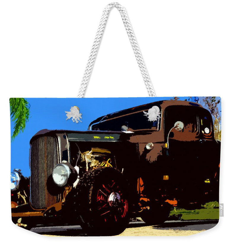 Duece Coupe Weekender Tote Bag featuring the painting Duece Coupe by David Lee Thompson