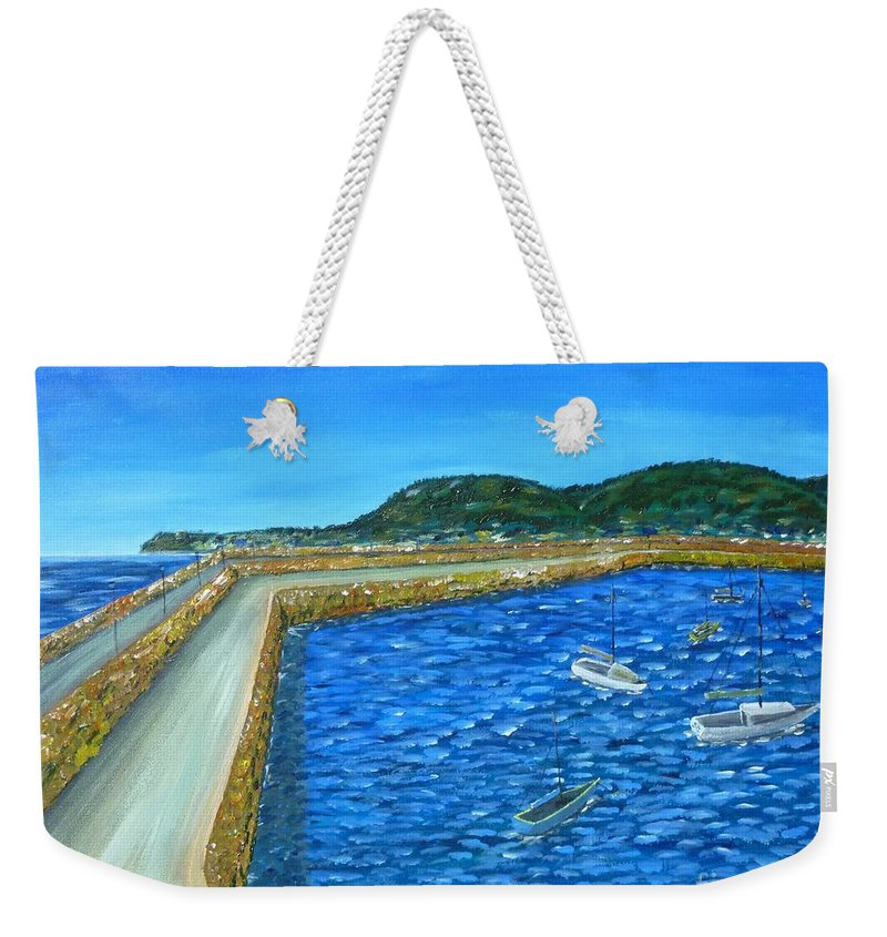 Dun Laoghiare Weekender Tote Bag featuring the painting Dun Laoghaire by Declan Leddy
