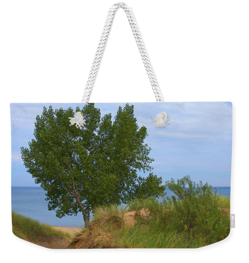 Dune Weekender Tote Bag featuring the photograph Dune - Indiana Lakeshore by Ann Horn