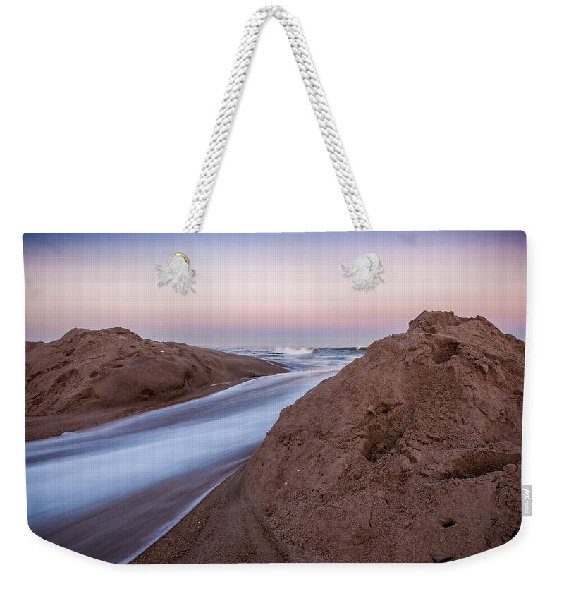 New Jersey Weekender Tote Bag featuring the photograph Dune Break by Kristopher Schoenleber