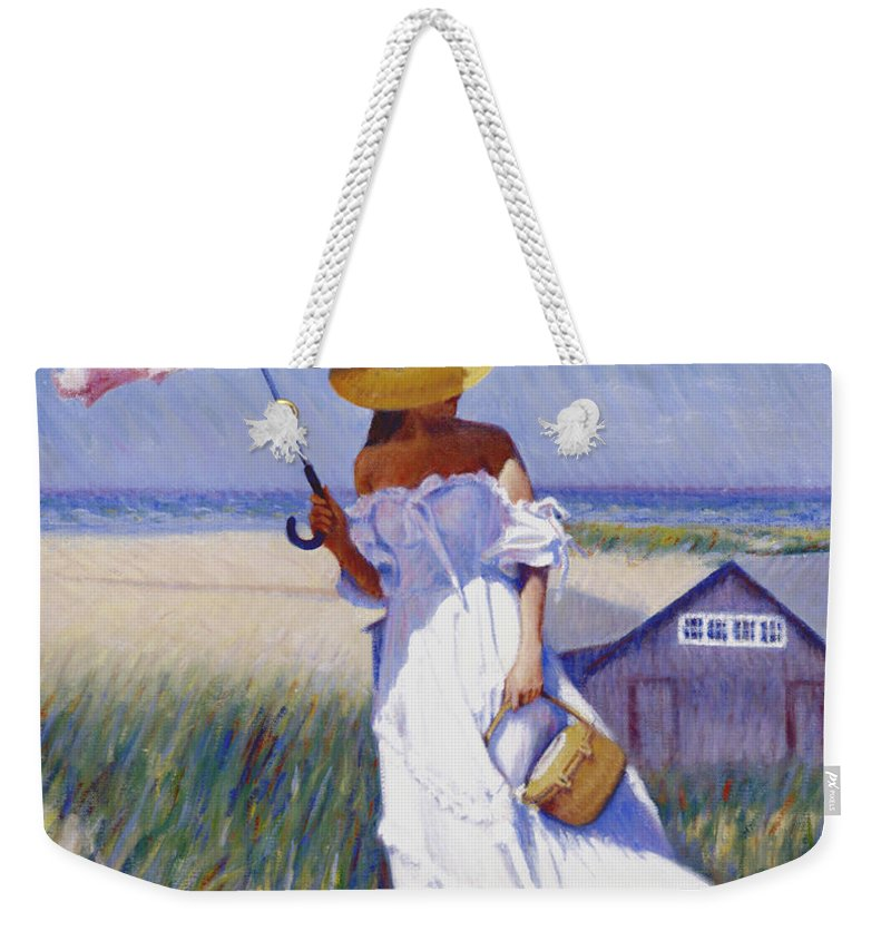 Impressionist Weekender Tote Bag featuring the painting Dune High by Candace Lovely
