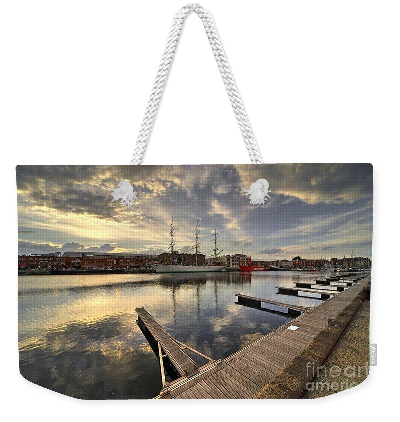 Dunkirk Weekender Tote Bag featuring the photograph Dunkirk Quay by Rob Hawkins