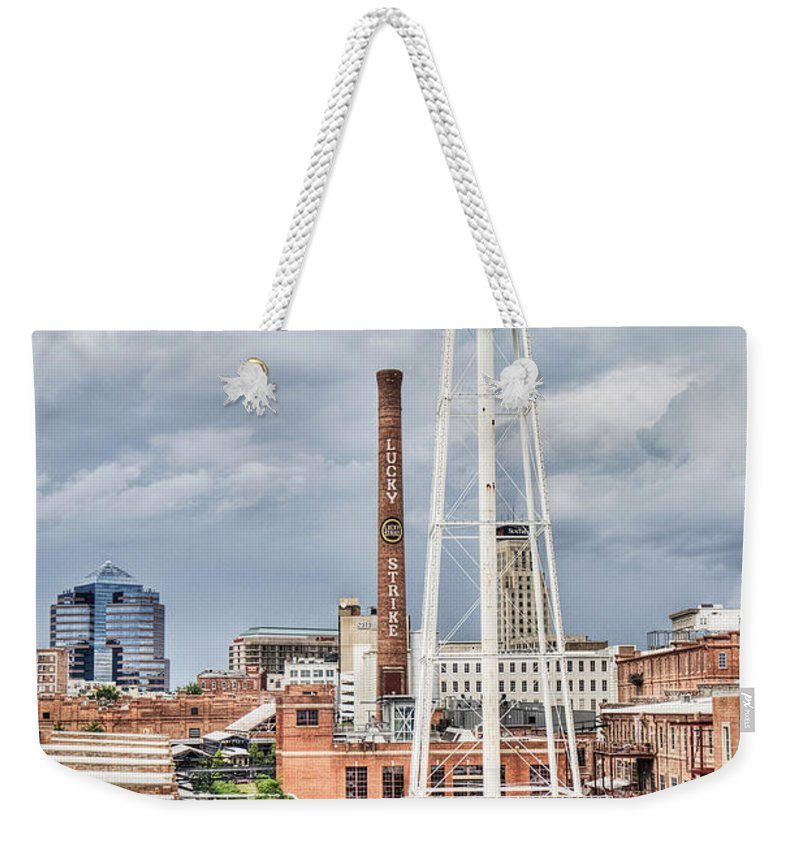 Durham Weekender Tote Bag featuring the photograph Durham by Emily Kay