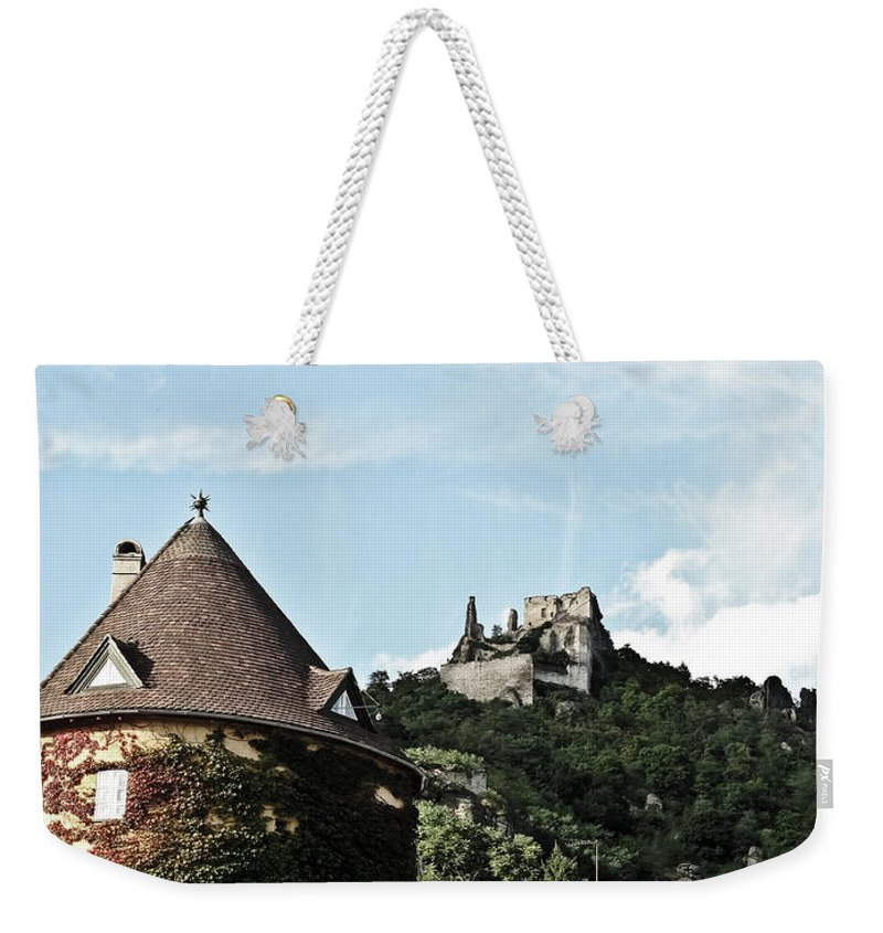 Travel Weekender Tote Bag featuring the photograph Durnstein Castle by Elvis Vaughn