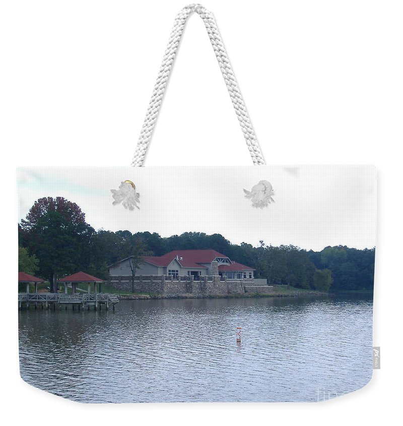 Lake Weekender Tote Bag featuring the photograph Dusk Lake D by Nathanael Smith