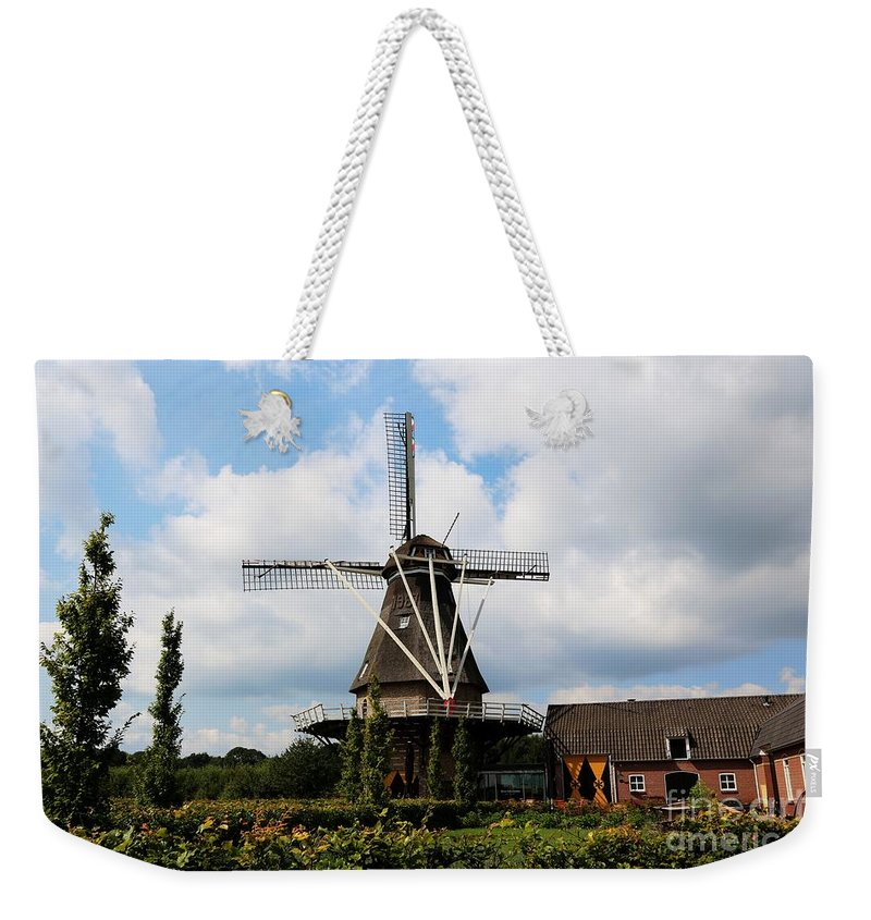 Windmill Weekender Tote Bag featuring the photograph Dutch Windmill Bakery by Carol Groenen