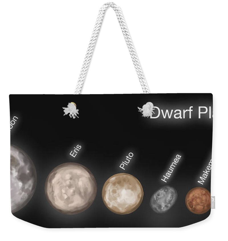Illustration Weekender Tote Bag featuring the photograph Dwarf Planets, Illustration by Spencer Sutton
