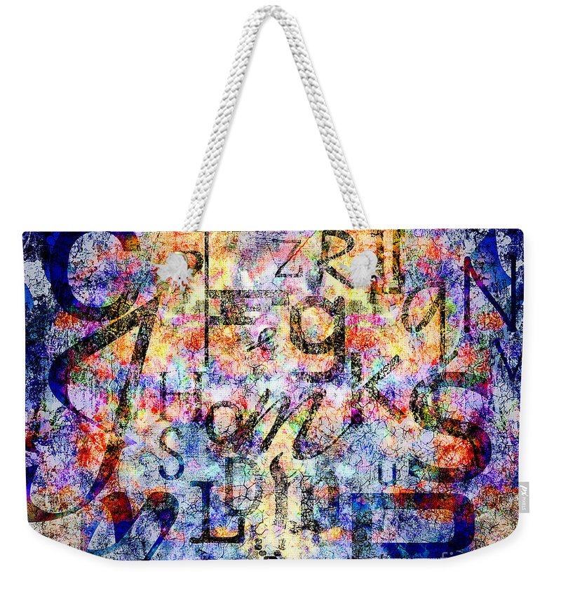 Digital Weekender Tote Bag featuring the digital art Dyslexia by Edmund Nagele
