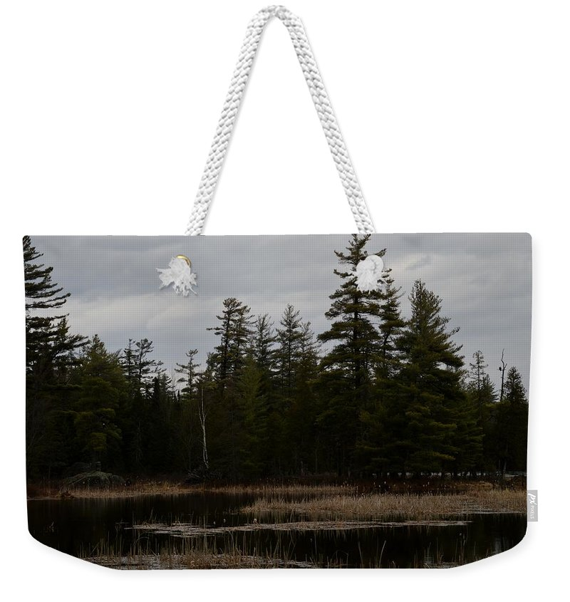 Bald Eagle Weekender Tote Bag featuring the photograph Eagle Home by Thomas Phillips