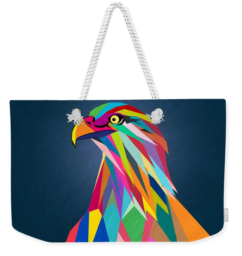 Eagle Weekender Tote Bag featuring the painting Eagle by Mark Ashkenazi