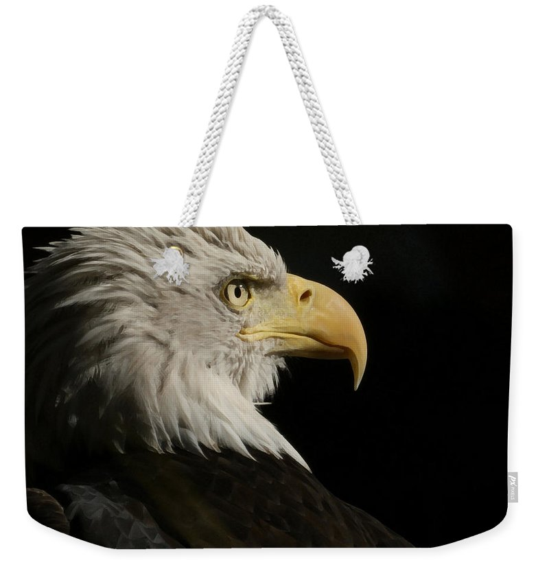 Animal Weekender Tote Bag featuring the photograph Eagle Profile 1 by Ernie Echols