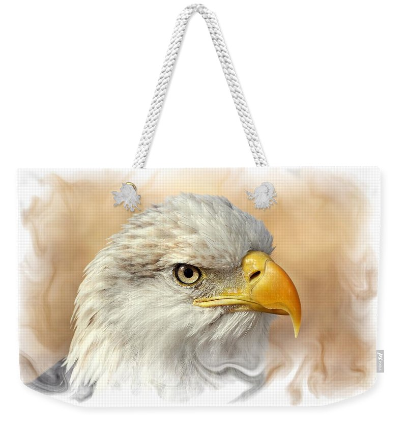 Eagle. American Bald Eagle Weekender Tote Bag featuring the photograph Eagle6 by Marty Koch