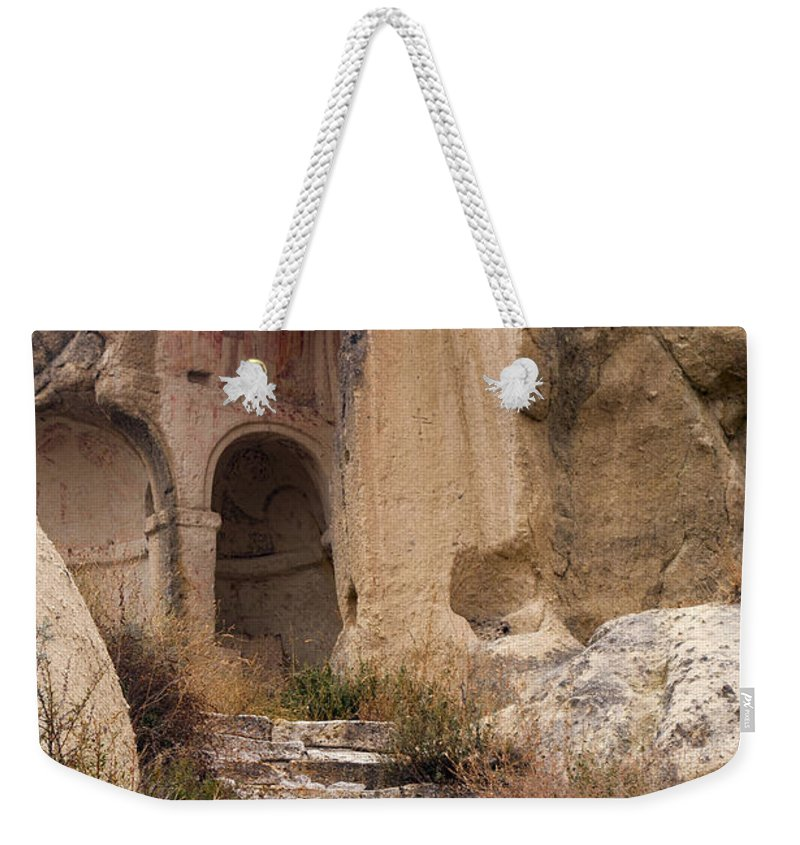 Göreme Open Air Museum Weekender Tote Bag featuring the photograph Early Christian Monastery by Bob Phillips