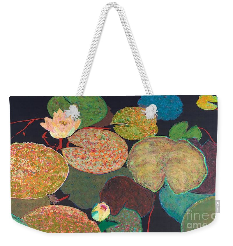 Landscape Weekender Tote Bag featuring the painting Early Mist by Allan P Friedlander