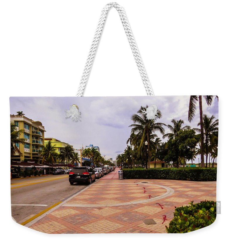 Miami Beach Weekender Tote Bag featuring the photograph Early Morning In Miami Beach by Zina Stromberg