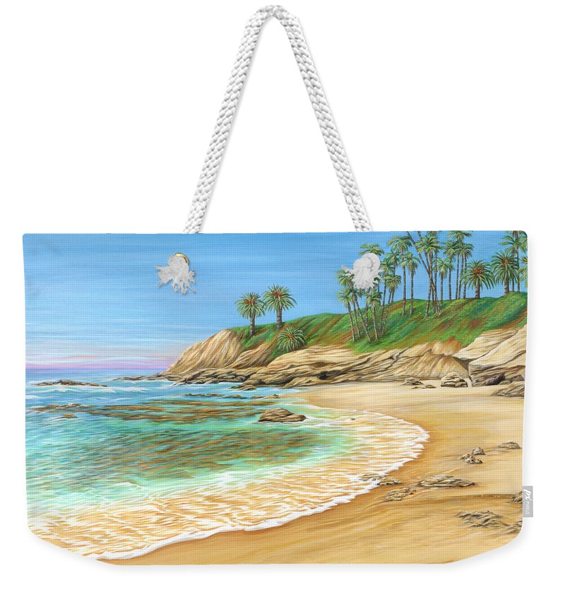 Beach Weekender Tote Bag featuring the painting Early Morning Laguna by Jane Girardot