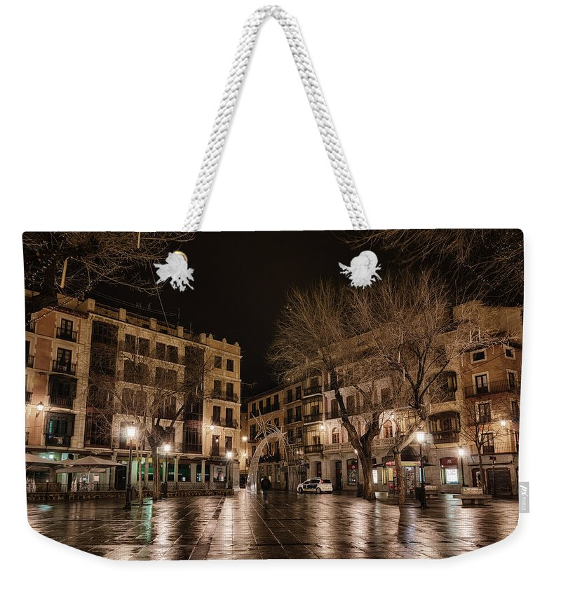 Architecture Weekender Tote Bag featuring the photograph Early Morning Quiet by Joan Carroll