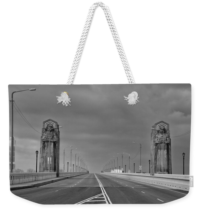 Bridges Weekender Tote Bag featuring the photograph Early One Sunday Morning by Guy Whiteley