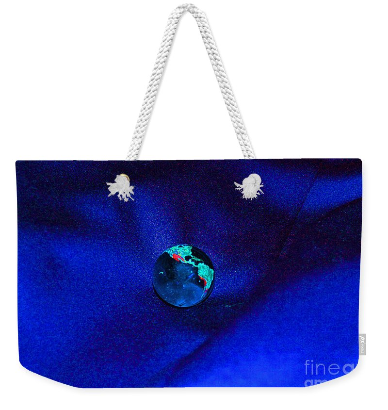 First Star Art Weekender Tote Bag featuring the digital art Earth Alone by First Star Art