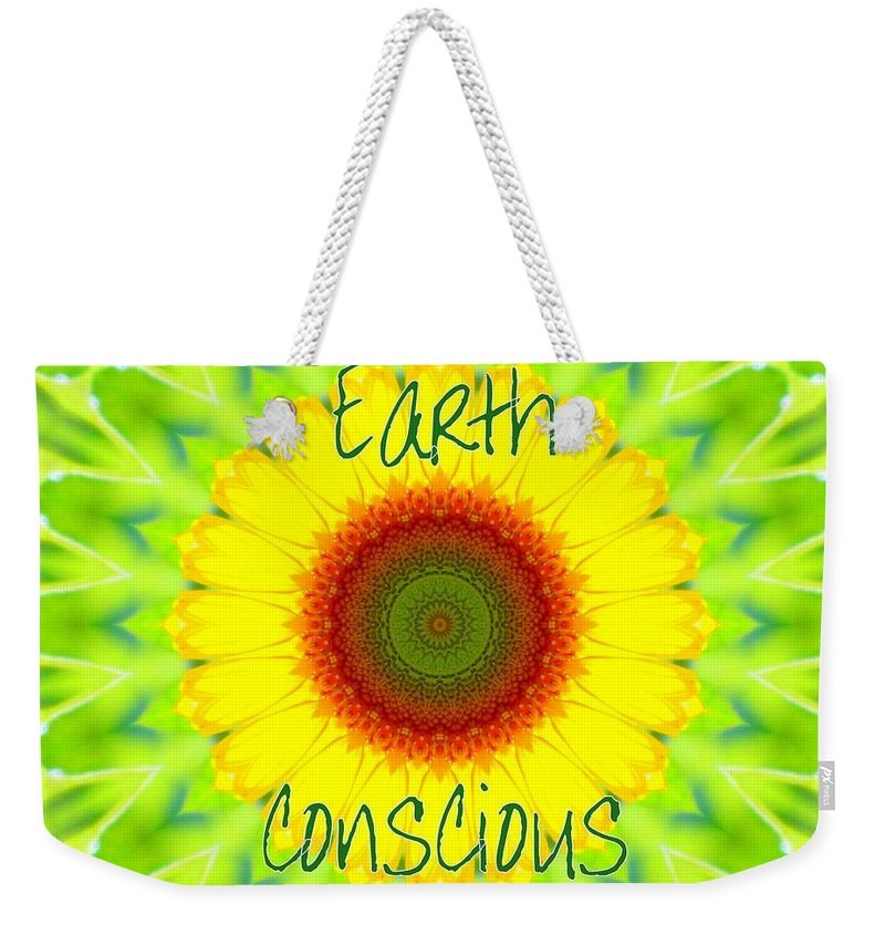 Earth Conscious Art Weekender Tote Bag featuring the photograph Earth Conscious 1 by Sheri McLeroy