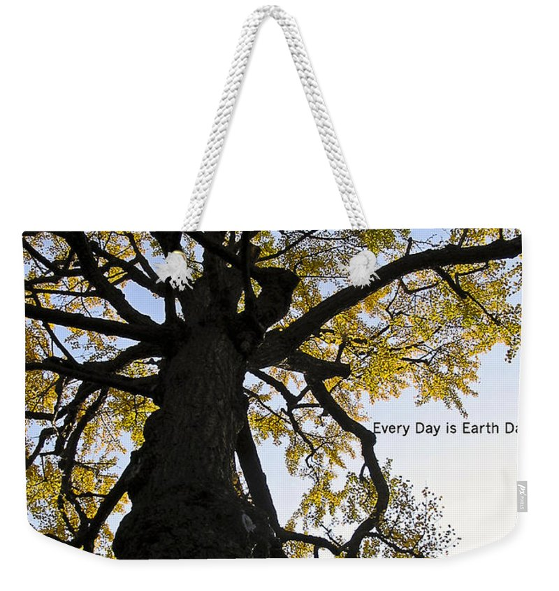 Photography Weekender Tote Bag featuring the photograph Earth Day Special - Ancient Tree by Ivy Ho
