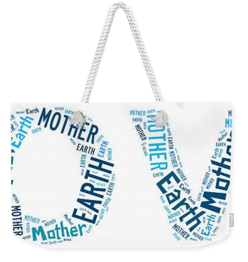 Earth Mother Weekender Tote Bag featuring the digital art Earth Mother by Georgia Fowler