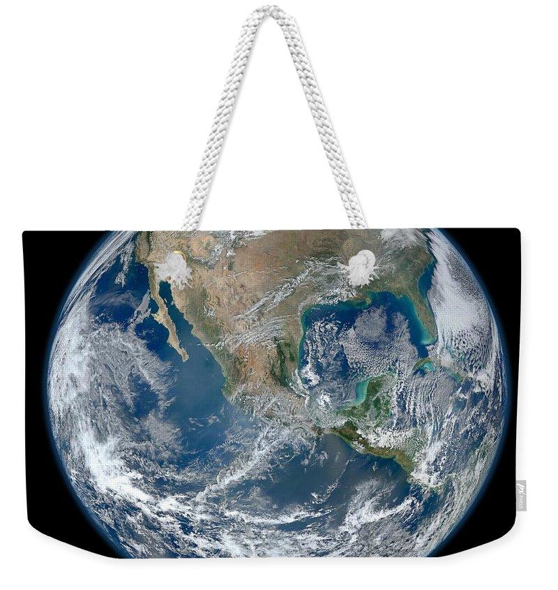 Earthnasa Jpl Weekender Tote Bag featuring the photograph Earth by Nasa Jpl