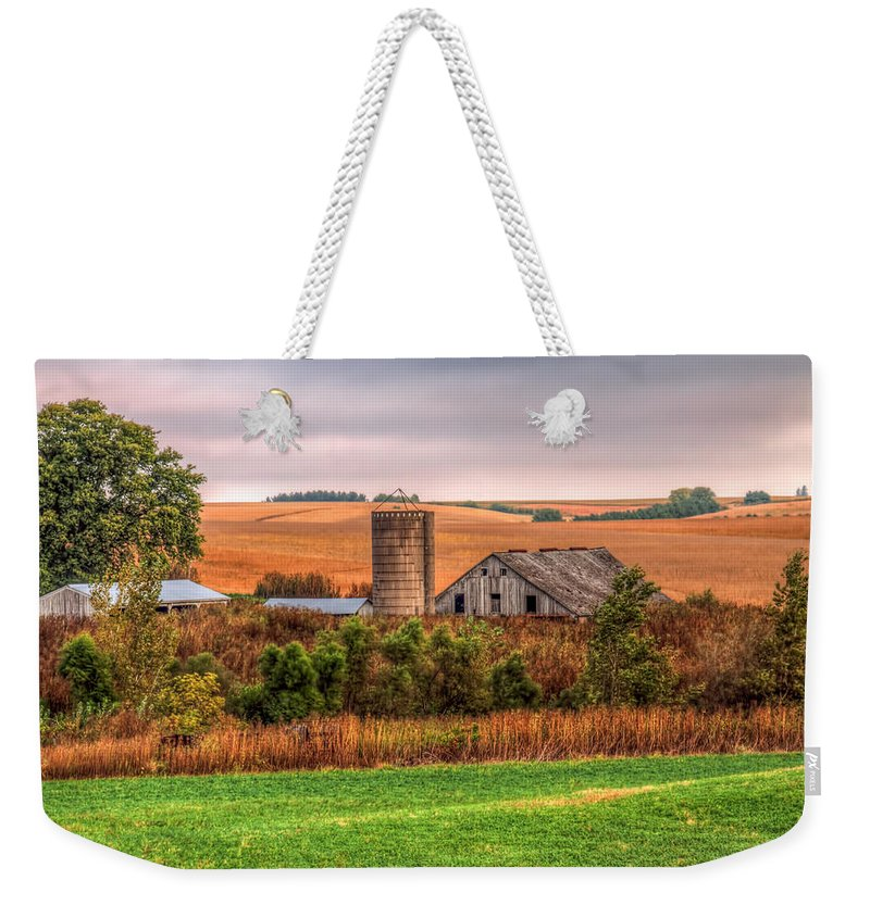 Iowa Weekender Tote Bag featuring the photograph Earth Tones by Tom Weisbrook