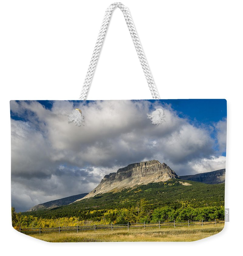 East Flattop Mountain Weekender Tote Bag featuring the photograph East Flattop Mountain by Greg Nyquist